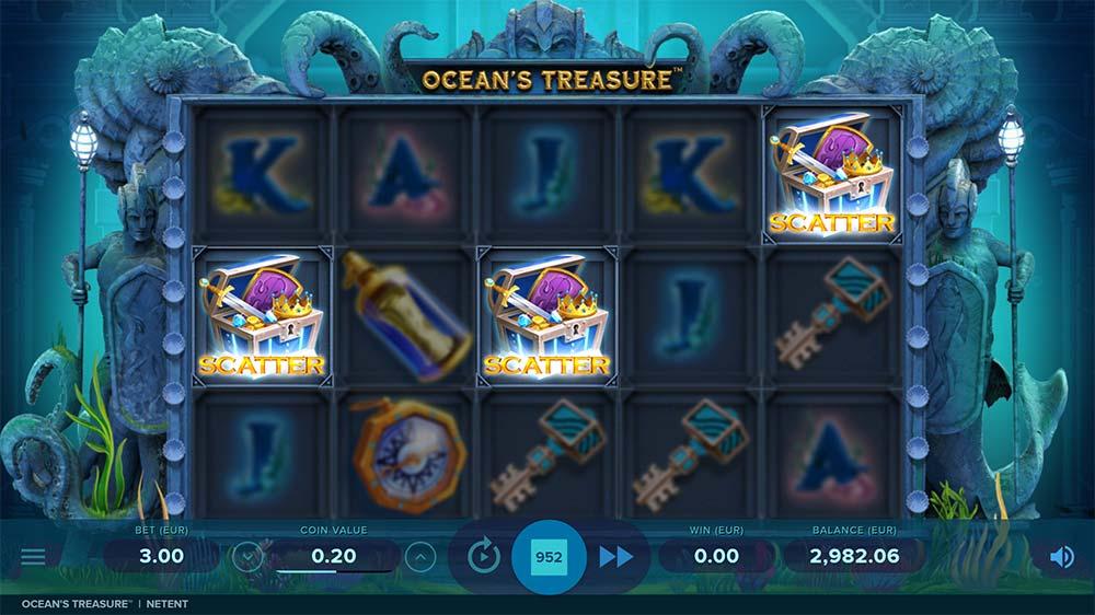 Ocean's Treasure Slot - Bonus Trigger