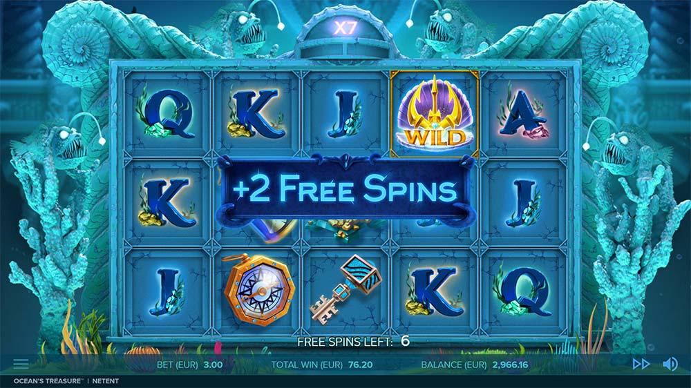 Ocean's Treasure Slot - Extra Spins