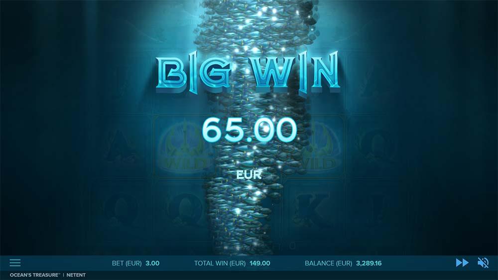 Ocean's Treasure Slot - Big Win