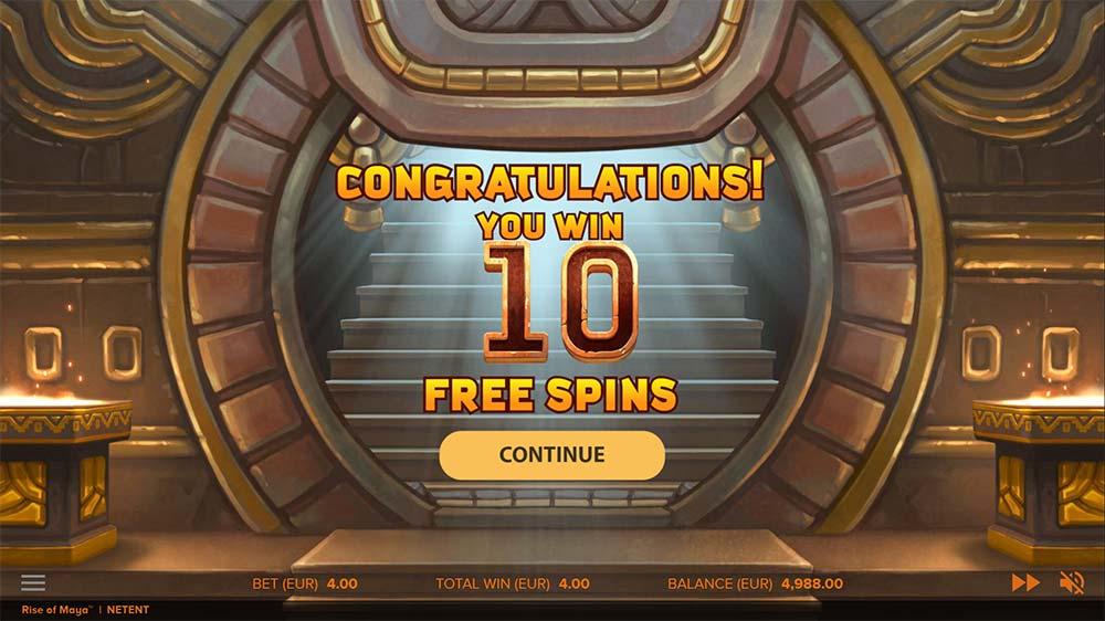 Rise of Maya Slot - Free Spins Start
