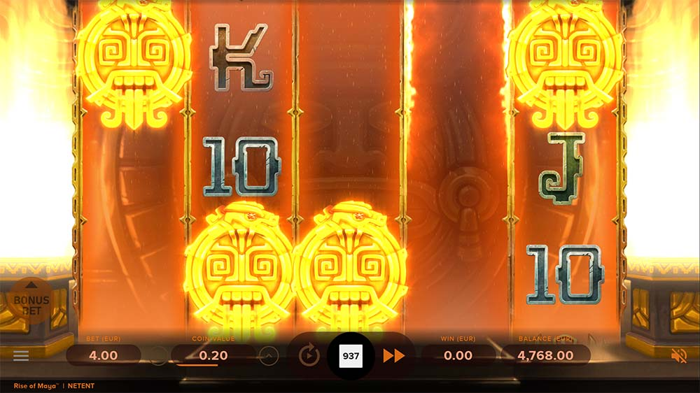 Rise of Maya Slot - 4 Scatter Trigger