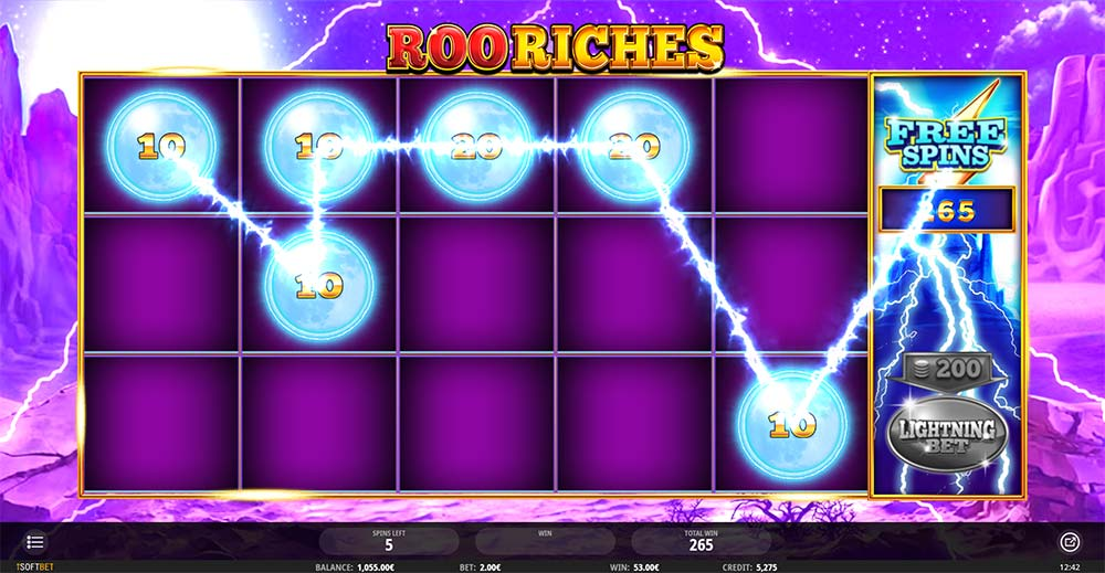 Roo Riches Slot - Free Spins Round