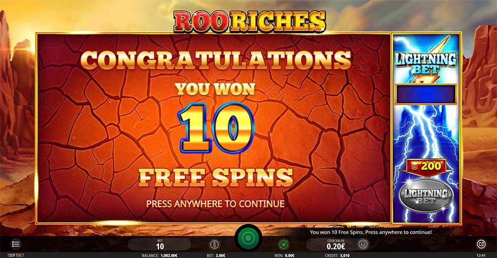 Roo Riches Slot - Free Spins