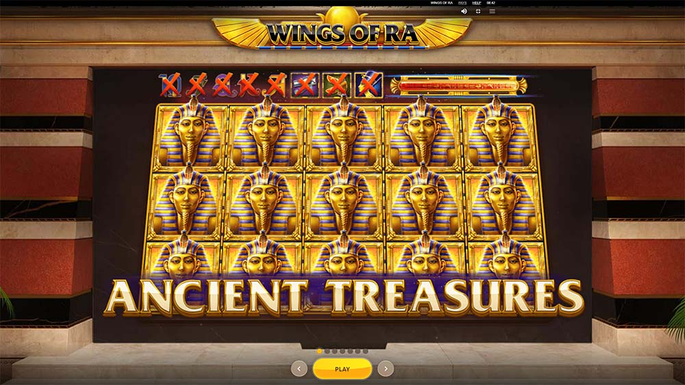 Wings of Ra Slot - Intro Screen