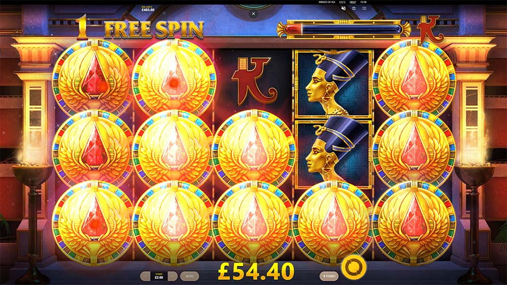 Wings of Ra Slot - Mystery Coins