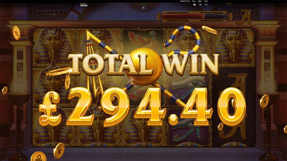 Wings of Ra Slot - Bonus End