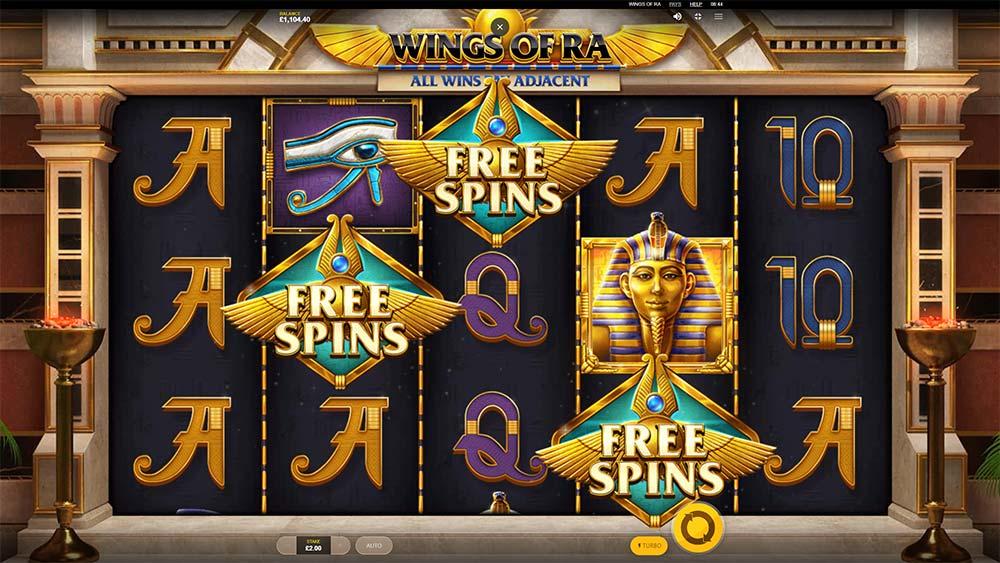 Wings of Ra Slot - Bonus Trigger