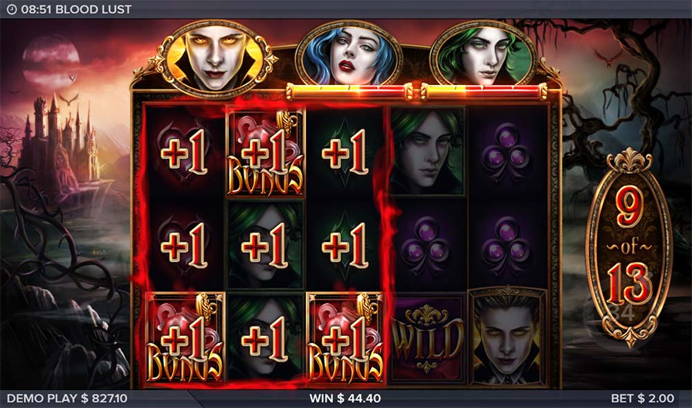 Blood Lust Slot - Bonus Re-Trigger