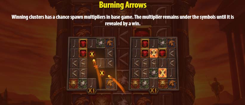 Nero's Fortune Slot - Burning Arrows Feature
