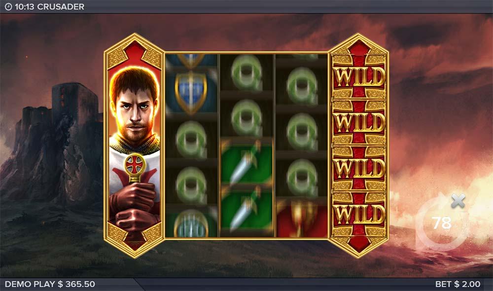 Crusader Slot - Bonus Triggered