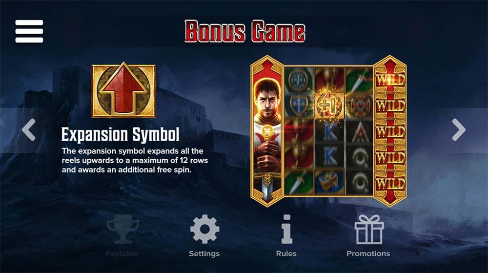 Crusader Slot - Bonus Game