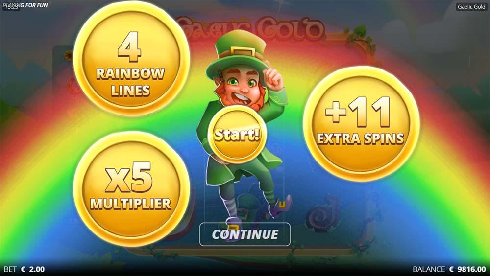 Gaelic Gold Slot - Bonus Start