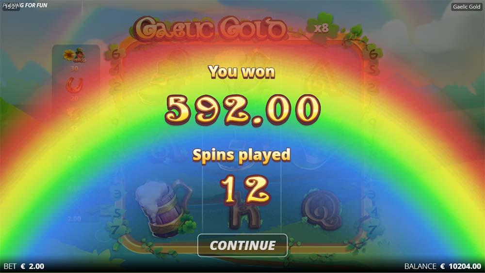 Gaelic Gold Slot - Bonus End