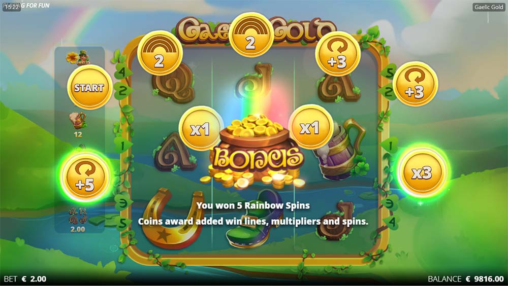 Gaelic Gold Slot - Bonus Picks