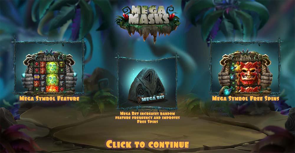 Mega Masks Slot - Intro Screen
