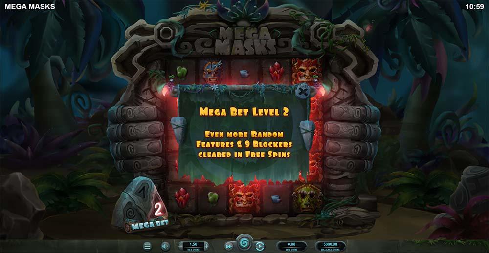 Mega Masks Slot - Mega Bet Level 2