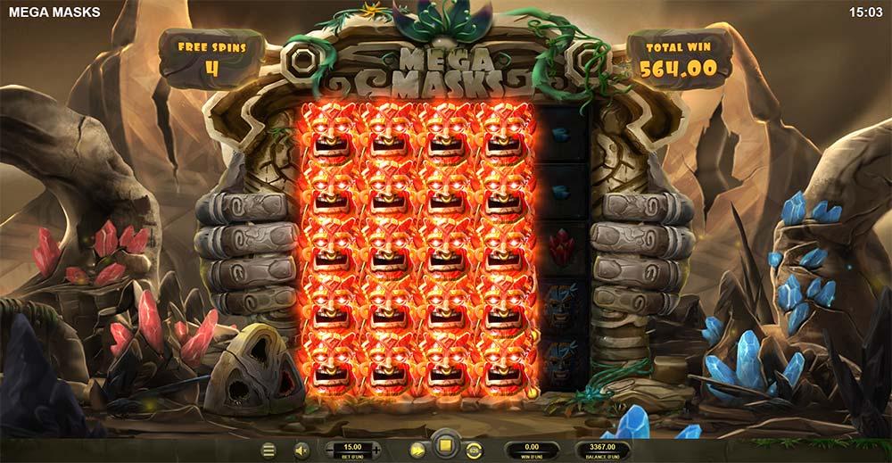 Mega Masks Slot - Free Spins