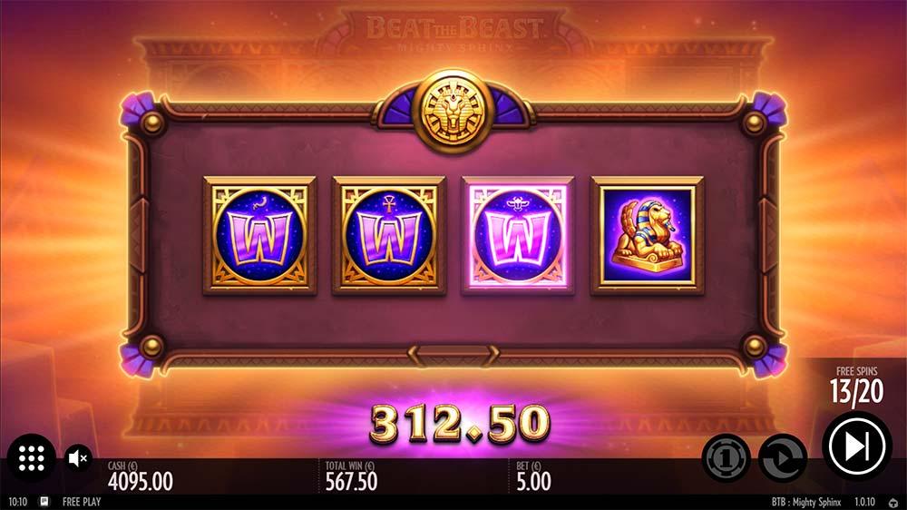 Mighty Sphinx Slot - Wild Symbol Upgrades