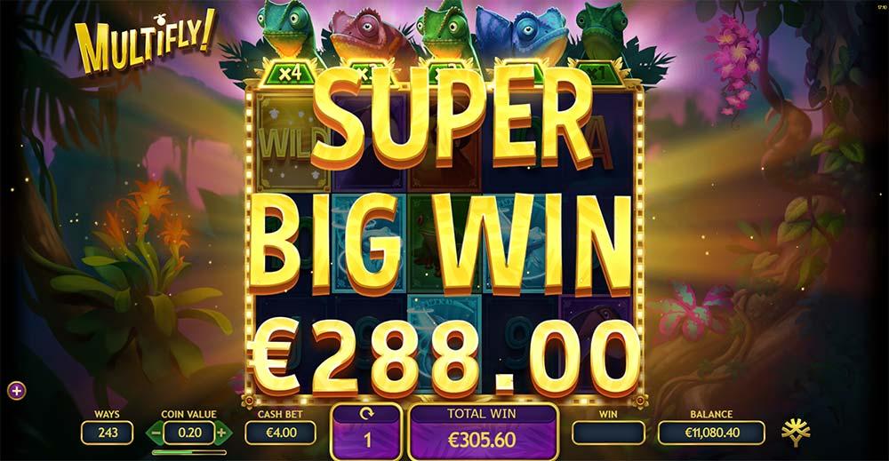 Multifly Slot - Super Big Win