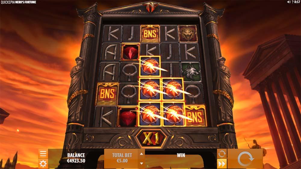 Nero's Fortune Slot - Bonus Trigger