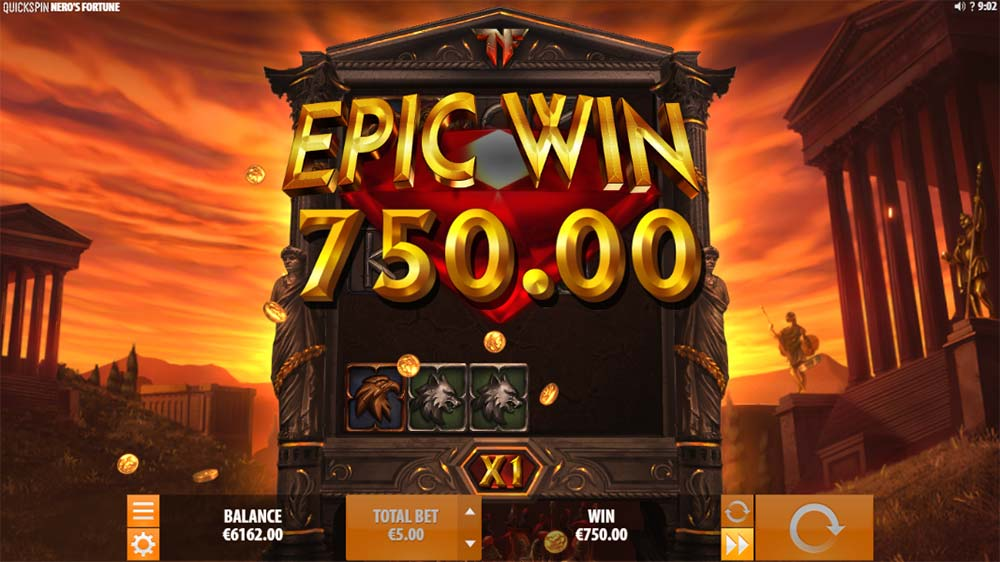 Nero's Fortune Slot - Epic Win Base Game