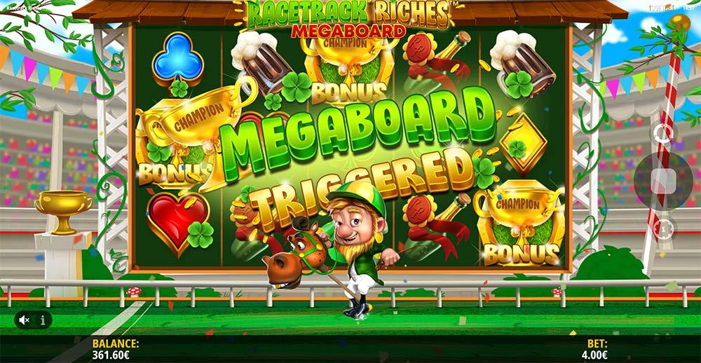Racetrack Riches Megaboard Slot - Bonus Triggered