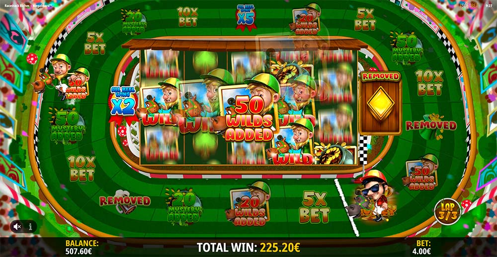 Racetrack Riches Megaboard Slot - Added Wilds