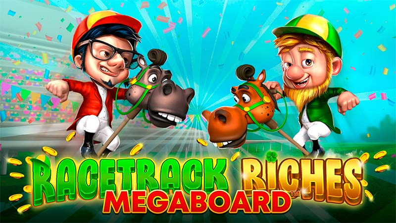 Racetrack Riches Megaboard Slot Logo