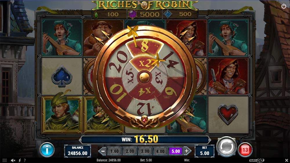 Riches of Robin Slot - Free Spins Wheel