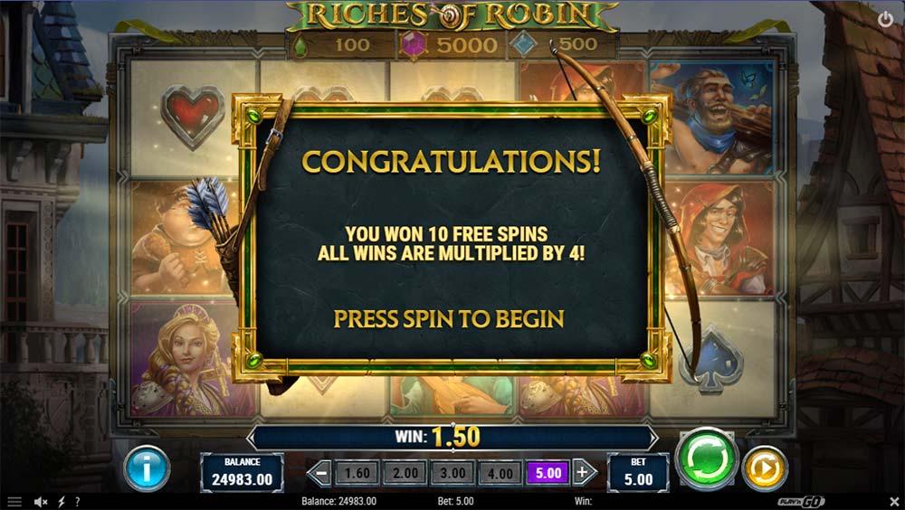 Riches of Robin Slot - Bonus Start