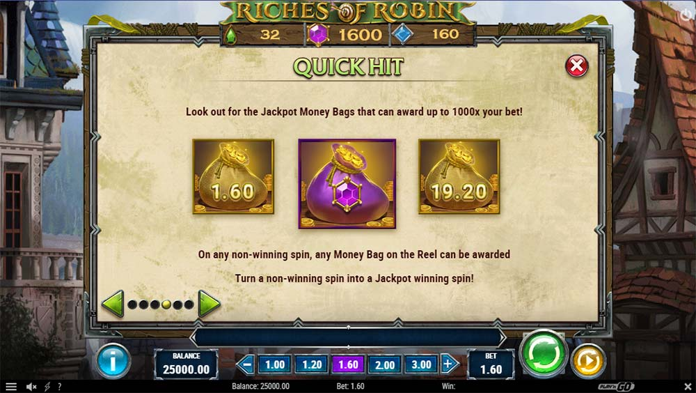 Riches of Robin Slot - Quick Hit Feature