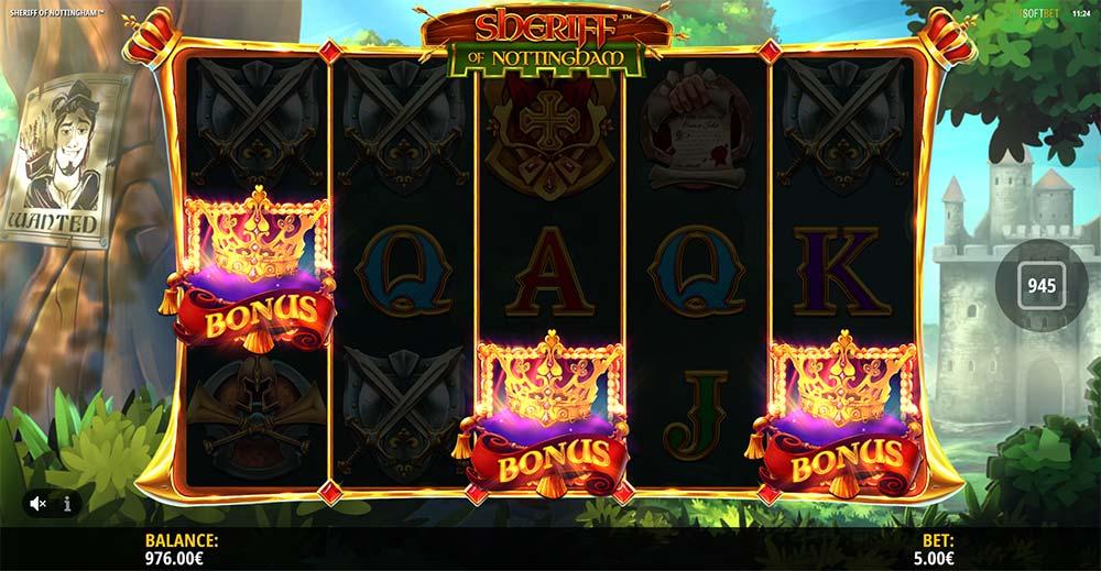Sheriff of Nottingham Slot - Bonus Trigger