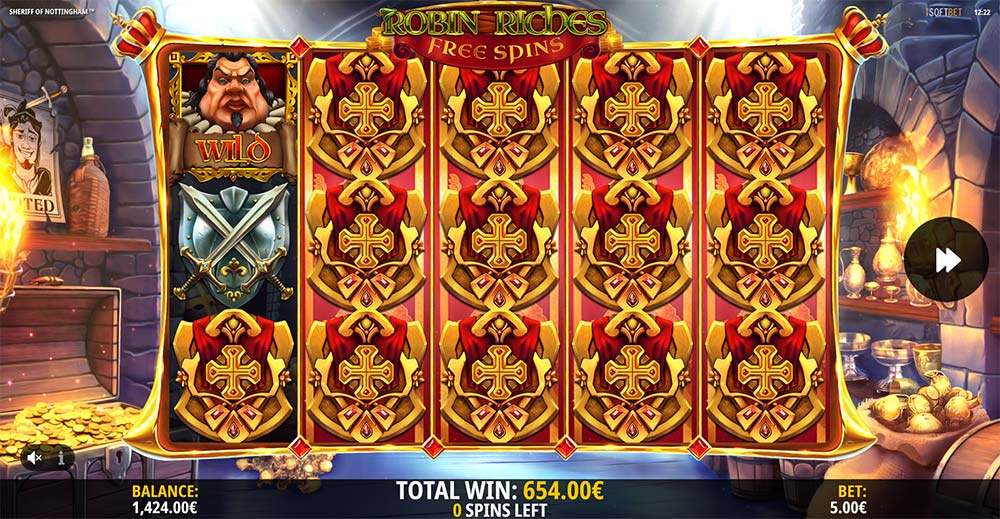 Sheriff of Nottingham Slot - Synced Reels Free Spins