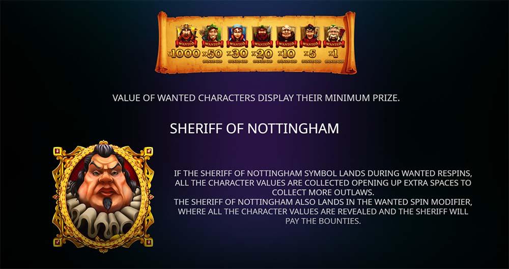 Sheriff of Nottingham Slot - Wanted Re-Spins Mechanics