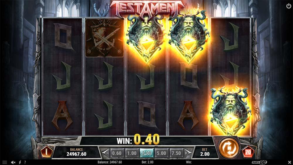 Testament Slot - Bonus Trigger