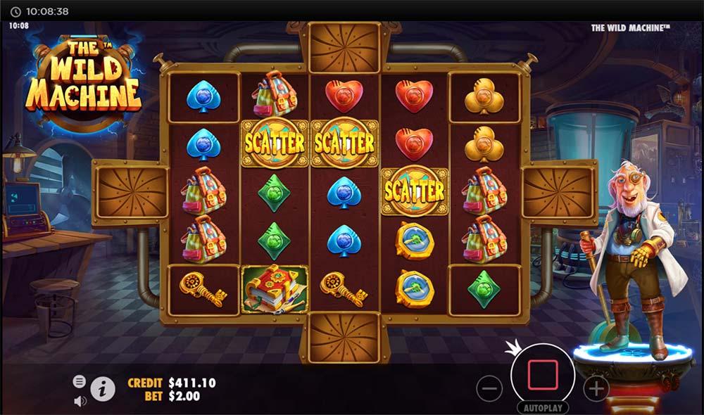 The Wild Machine Slot - Bonus Triggered