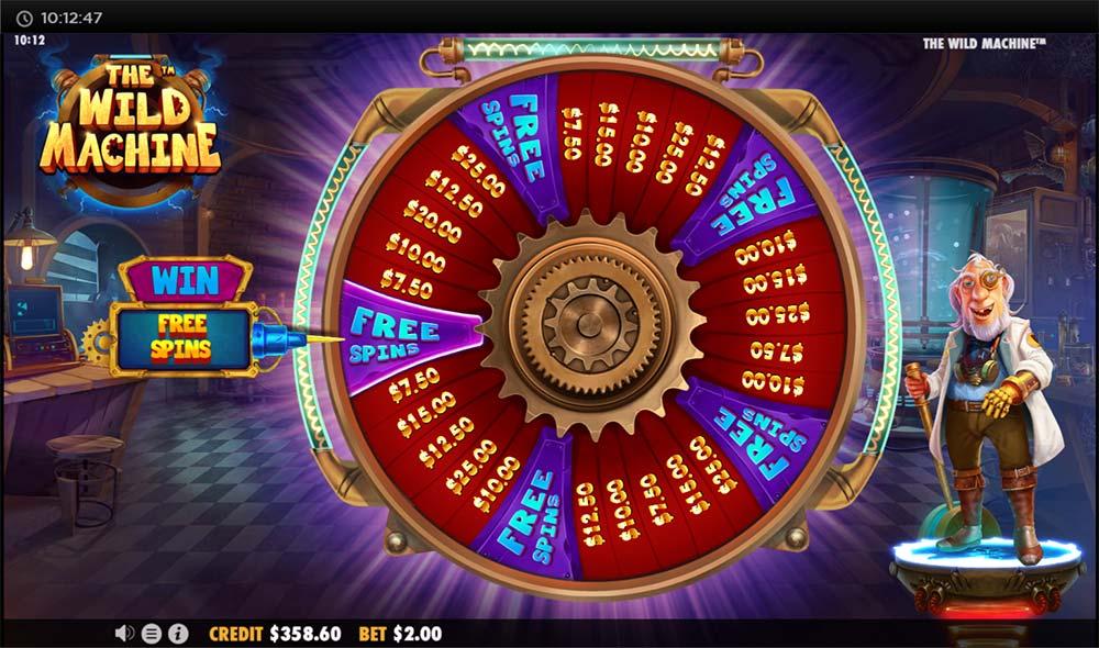 The Wild Machine Slot - Bonus Wheel