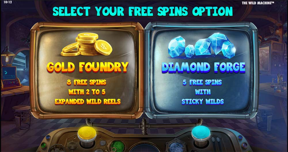 The Wild Machine Slot - Free Spins Options