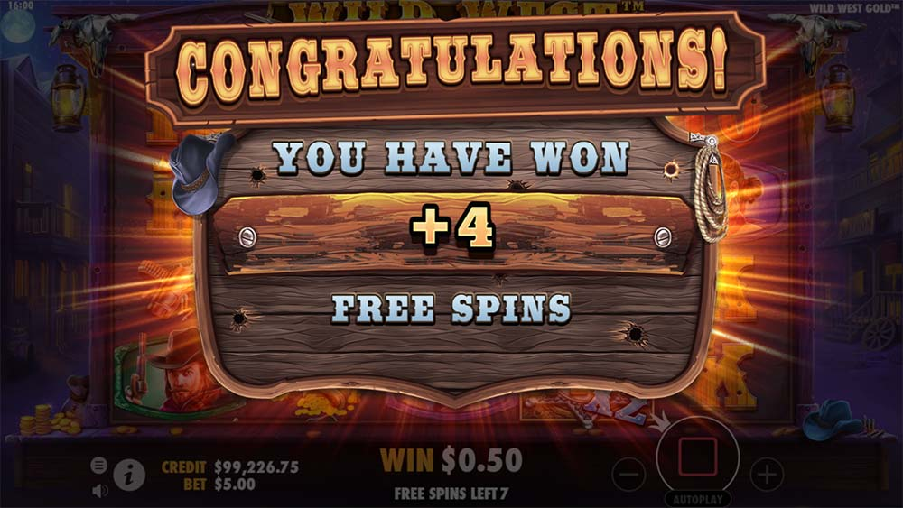 Wild West Gold Slot - Re-Trigger