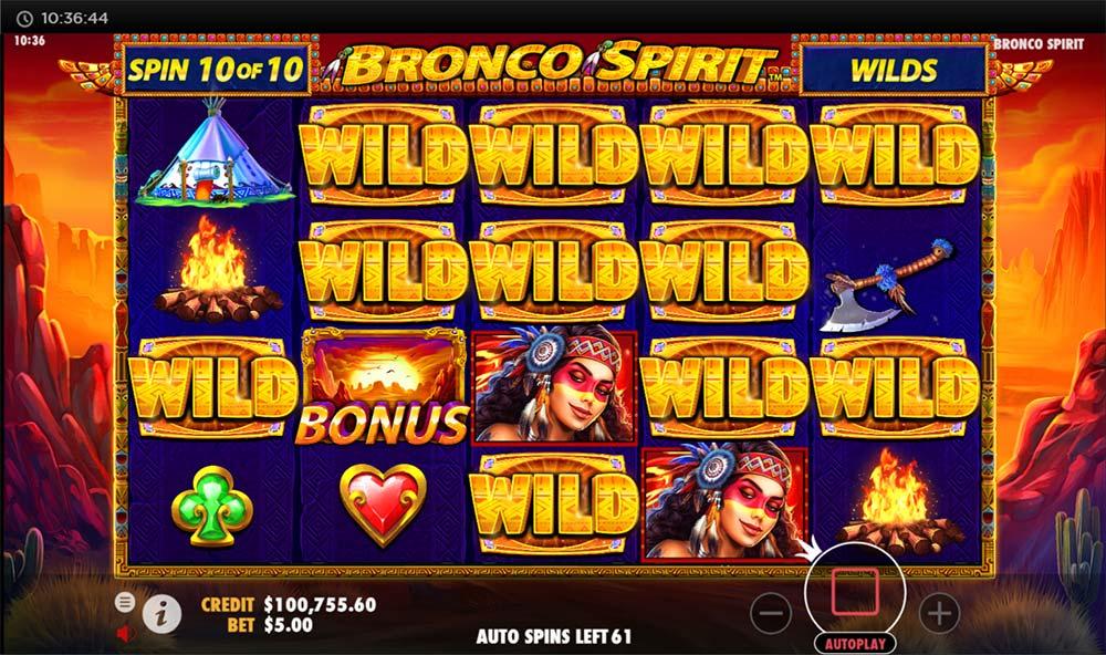 Bronco Spirit Slot - Added Wilds Feature
