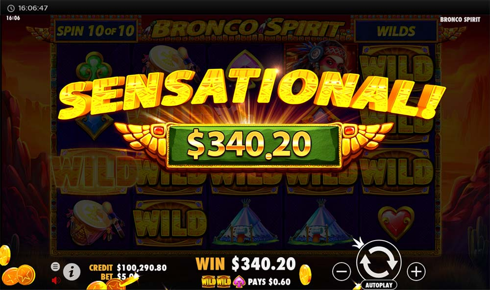 Bronco Spirit Slot - Sensational Win