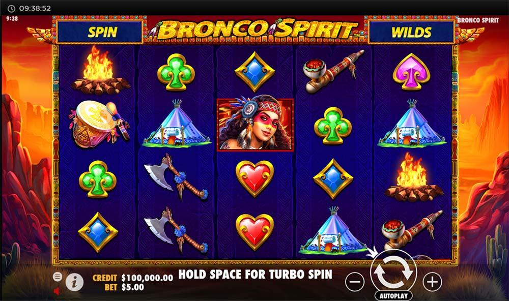 Bronco Spirit Slot - Base Game