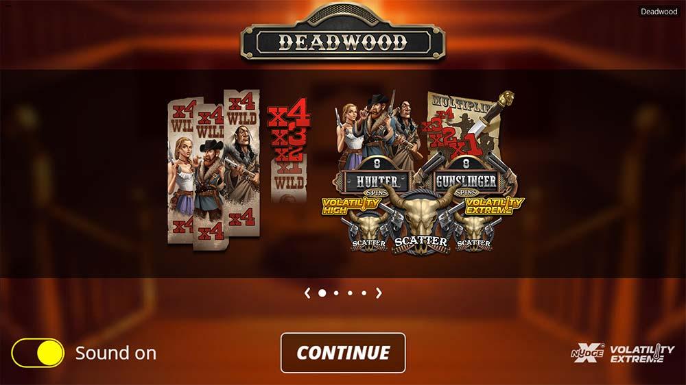 Deadwood Slot - Intro Screen