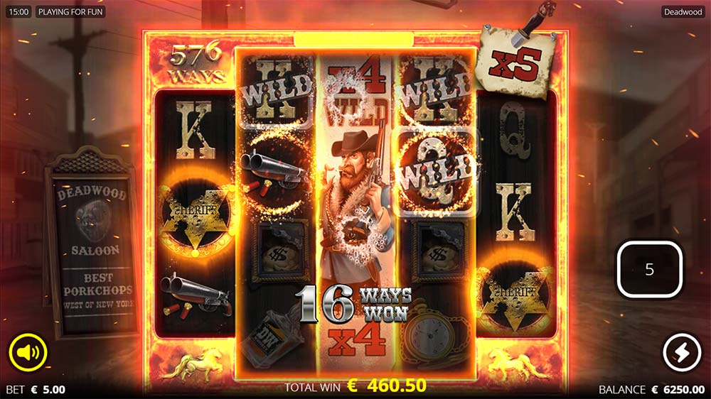 Deadwood Slot - Nudging Multiplier Wilds