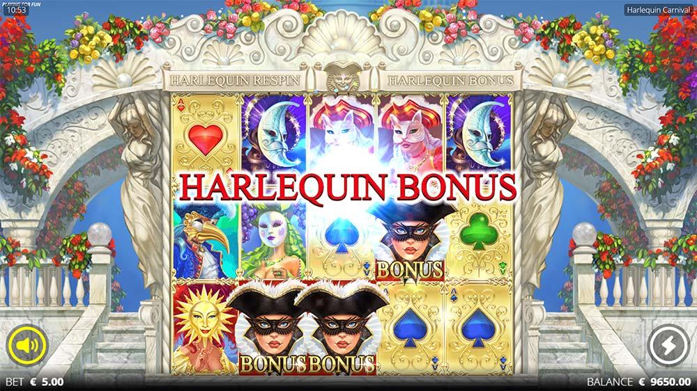 Harlequin Carnival Slot - Bonus Triggered