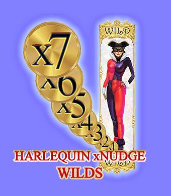 Harlequin Carnival Slot Nudging Wilds