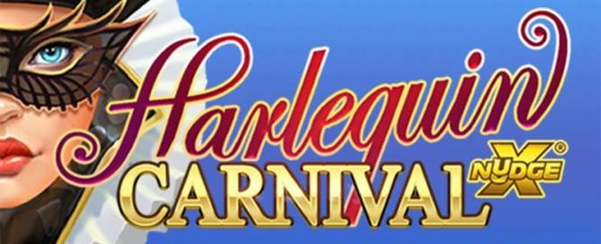 Harlequin Carnival Slot Logo