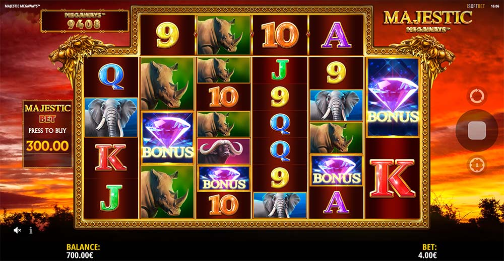 Majestic Megaways Slot - Bonus Triggered