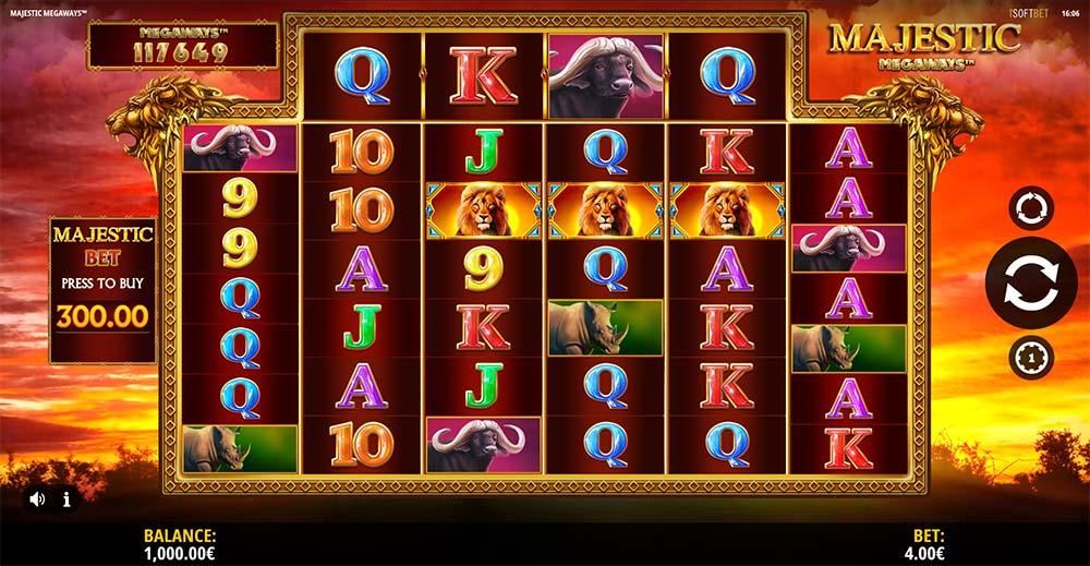 Majestic Megaways Slot - Base Game