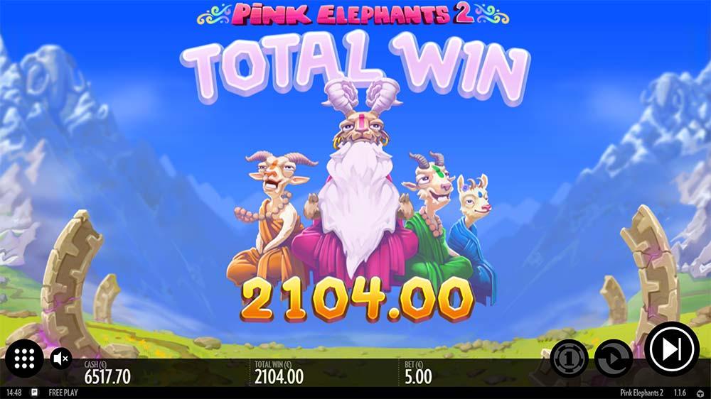 Pink Elephants 2 Slot - Bonus End